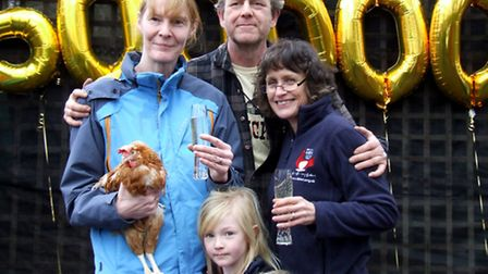 Dee, pictured with new owner Julie Elliott and her daughter Rosie, plus founder Jane Howorth and Ian