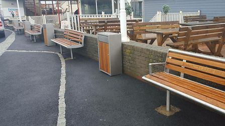 Work is on track to finish works at Westward Ho! seafront before the summer season.