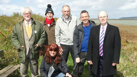 North Devon MP Peter Heaton-Jones (right) with Steve Crowther, Michael Pagram, Joanne Bell, Mark Can