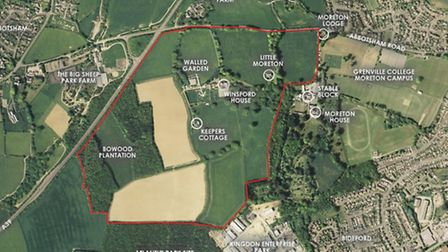 The site of the proposed Winsford Park development in Bideford.