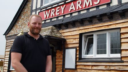 Barry Pilarz is the new publican at the Wrey Arms.
