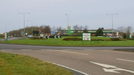 How the roundabout looked before the upgrade in 2014. Picture: Andy Keeble