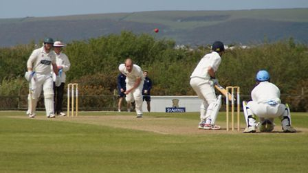 North Devon in action against Sidmouth on Saturday