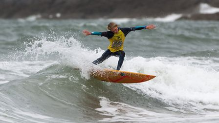Grom surf action at GoldCoast Oceanfest. Picture: Oceanfest15