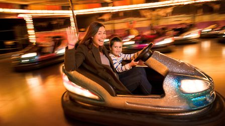 Fun on the dodgems at the Milky Way. Picture: Contributed