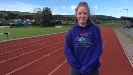 Caitlin Gallagher competed in the under 17 women's triple jump at the English Schools' Athletics Cha