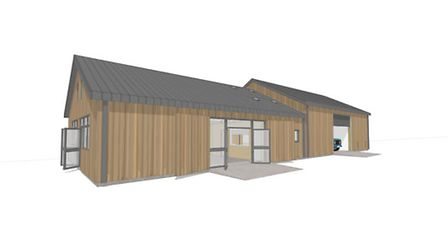 How the new British Hen Welfare Trust centre will appear.