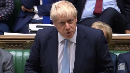 Boris Johnson in the House of Commons. Photograph: Parliament TV.