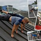 Jack Johns has been taking the 22 press up challenge to new heights - literally!