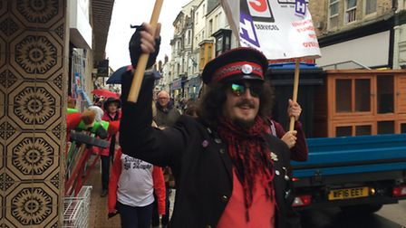 Marchers turned out in force for the Ilfracombe Sees Red event.