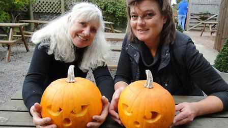 Anne Tattersall and Phoebe Gibb from The Big Sheep are ready for Halloween.