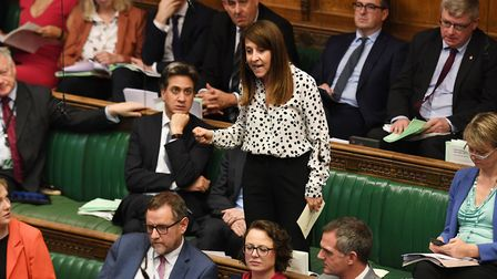 Liz Kendall speaking in the House of Commons. Photograph: UK Parliament/Jessica Taylor/PA Wire .