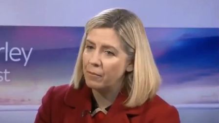 Andrea Jenkyns appears on Kay Burley at Breakfast on Sky News. Photograph: Sky.