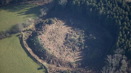 Berry Castle hill fort has been removed from the Heritage at Risk Register 2016. Picture: Historic E