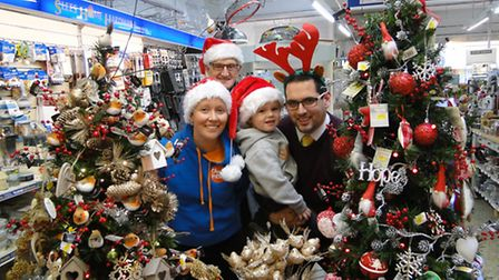 Getting festive in Braunton for the Christmas Market: Organiser Neil Hampson with son Dylan, plus co