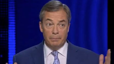 Nigel Farage appears on All Out Politics. Photograph: Sky News.