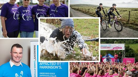 Which event will you take part in? Clockwise from top left: Relay for Life; Smuggle Sportive; Race f