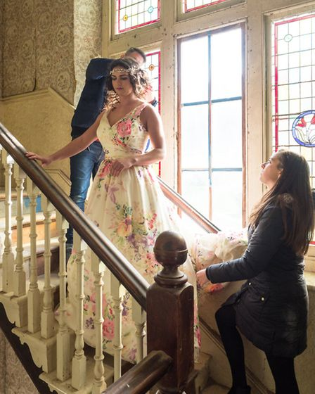 Behind the scenes at The Wedding Factor magazine's latest photoshoot. Picture: Andy Robinson of J&A