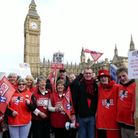 People from North Devon joined hundreds of thousands of people in London on Saturday to campaign aga