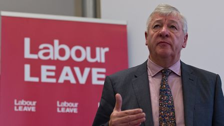 Graham Stringer speaks during the Labour Leave launch. (Photo by Ben Pruchnie/Getty Images)