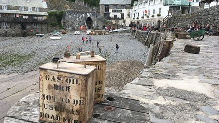 Clovelly harbour has been turned into a film set ahead of scenes being shot for the big-screen adapt