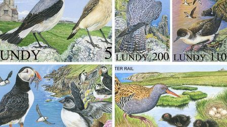 The new 2017 stamp issue for Lundy Island.