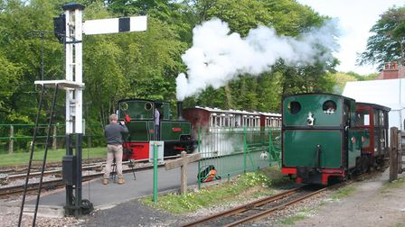 See the trains at Woody Bay Station for the Spring Gala on May 13-14