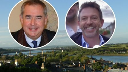 Geoffrey Cox and David Chalmers are standing for the Torridge and West Devon seat.