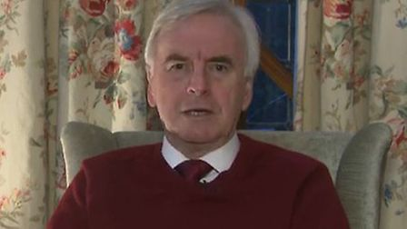 John McDonnell is interviewed by breakfast television. Photograph: Sky.
