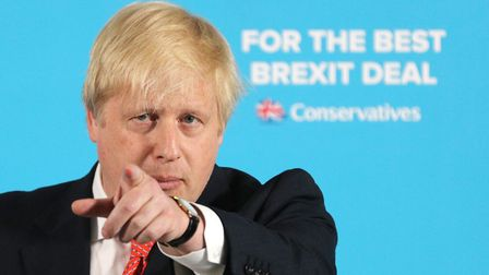 Foreign Secretary Boris Johnson makes a speech on the General Election campaign trail. Picture: Owen
