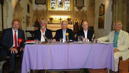 North Devon's General Election candidates at the Georgeham hustings.