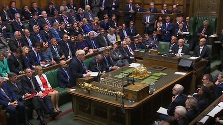 Boris Johnson speaks in the House of Commons. (PA Wire/PA Images)
