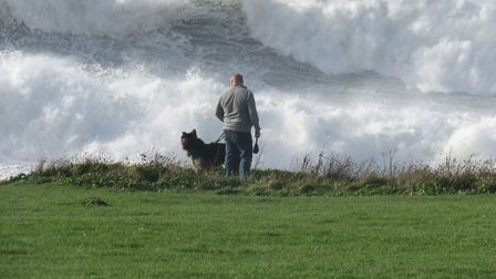 Storm Ophelia crashes into Woolacombe on Monday afternoon. Picture: Marion Callaghan
