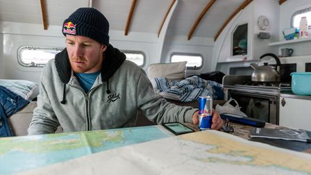 Andrew Cotton hunting for the big waves off Ireland. Picture: Olaf Pignataro / Red Bull
