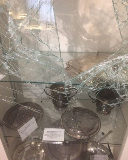 The damage caused at the Museum of Barnstaple and North Devon.