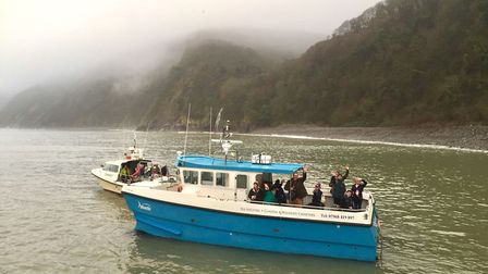Fishermen helped save the day for Christmas guests.