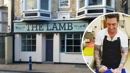 Thomas Carr (inset) hopes to open a new Seafood and Grill restaurant at The Lamb premises in Ilfraco