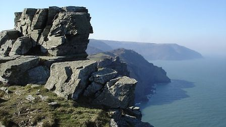 The Valley of the Rocks at Lynton.