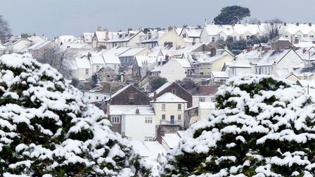 Bideford in the snow, taken over the weekend by photographer Graham Hobbs.