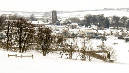 North Molton on a snowy March morning. A walk down the lane with the best views. Picture: Lisa Wyatt