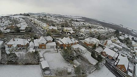 Another white out in North Devon today as the Beast from the East mk2 arrived. My view from the ga