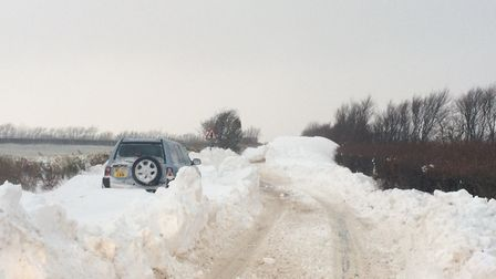 There are still treacherous driving conditions on the A399 near Blackmoor Gate and also around Lynto