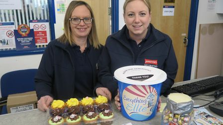 Dee Carr and Natalie Dash of Johnstones Paints in Barnstaple are hosting a cake sale for Everything