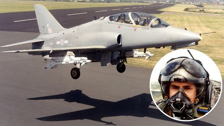 Ken Delve from his days flying aboard jets at RAF Chivenor. Pictures: Ken Delve