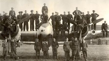 A Beaufighter and personnel of 235 Squadron, October 1942. Picture: Contributed