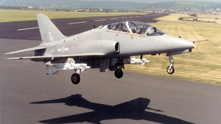 A Hawk of 151 Squadron at Chivenor. Ken Delve trained on the Hawks int eh 1980s. Picture: Contribute