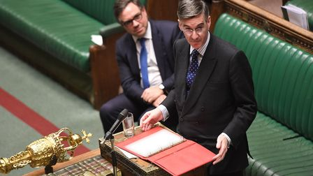 Jacob Rees-Mogg in the House of Commons. Photograph: UK Parliament/Jessica Taylor.