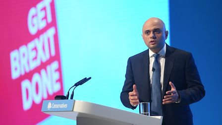 Chancellor of the Exchequer Sajid Javid speaks at the Conservative Party Conference at the Mancheste