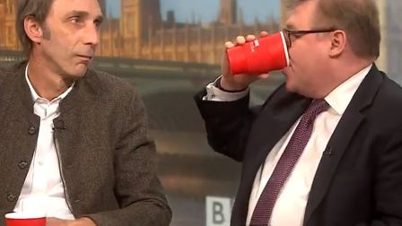 Will Self, seen here during his famous stare-off with Tory MP Mark Francois on BBC's Politics Live ,