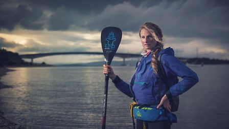 Cal Major is planning to stand-up paddleboard from Land's End to John O'Groats. Picture: James Apple